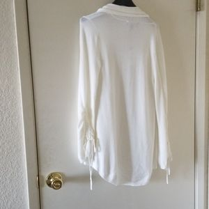 Express Sweaters - Nwt Express Ruched sleeve roll neck Cardigan sz xs